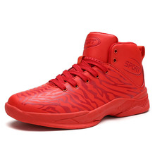 Mens Basketball Shoes Black White Red Outdoor Sport Boys Sneakers for sale EU39-44 M03286