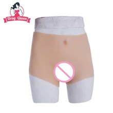 Buy Drag Queen Transgender Realistic Silicone Hip Pants Underwear Penetrable Fake Vagina Shemale Crossdresser sex vagina toys