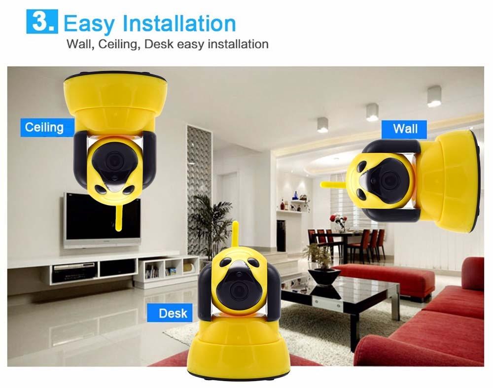 Wistino 720P Wireless IP Camera Motion Detection Home Baby Monitor IR Night Vision WiFi Camera Alarm Onvif Surveillance Security (10)
