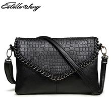 2016 Summer Crossbody Bag Female Small Simple Pu Leather Leisure Square Black Clutch Purse Women Crossbody Handbag Bolsa Shopper(China)