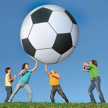 Inflatable Football Toys Ball Giant 1.3M Beach Ball Outdoor Fun Sports Toys Inflated Plastic Ball Summer Holiday Water Toys