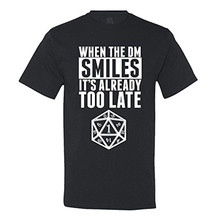 Anime Print Tee When The DM Smiles It's Already Too Late Dungeon and Dragons T-Shirt Brand Clothing Men t shirt
