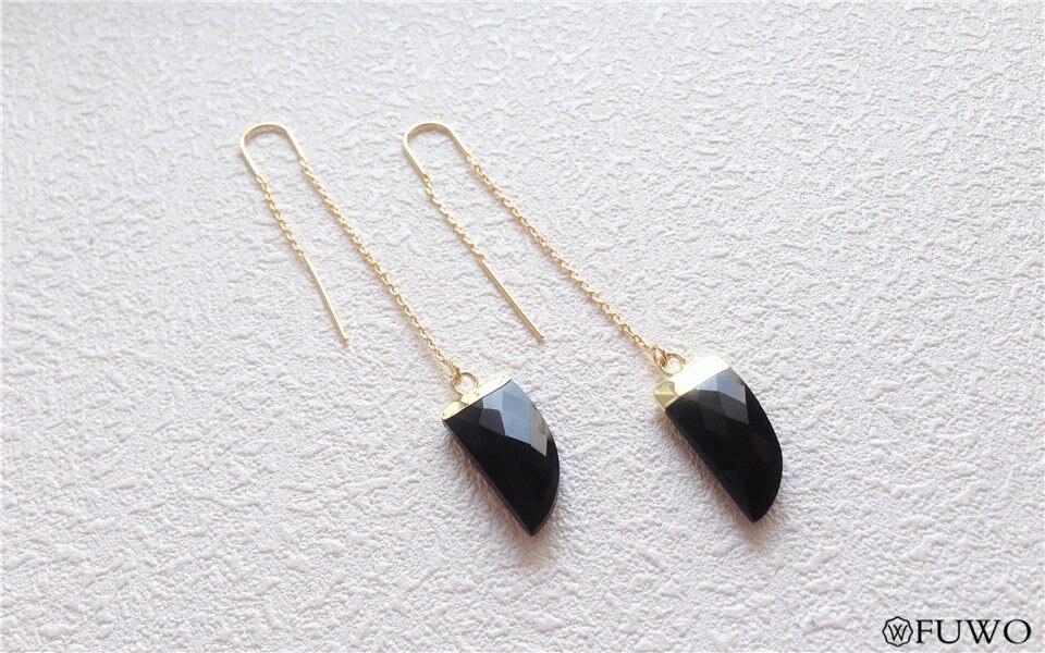 Natural Black Onyx Earrings 7