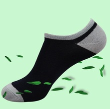 Bamboo Fiber Summer Coolmax Men's Mens Hommes Chaussettes Invisibles Ankle White Black Cotton Dress Socks Sokken For Man sox