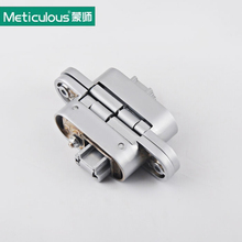 Meticulous Three-dimensional Hidden Door Hinge Adjustable Hinges load 60kg 2PCS With Screw Invisible Concealed Cross Door Hinges(China)