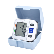Health Care LCD Digital Wrist Blood Pressure Monitor CE Portable Automatic Sphygmomanometer and Heart Beat Meter