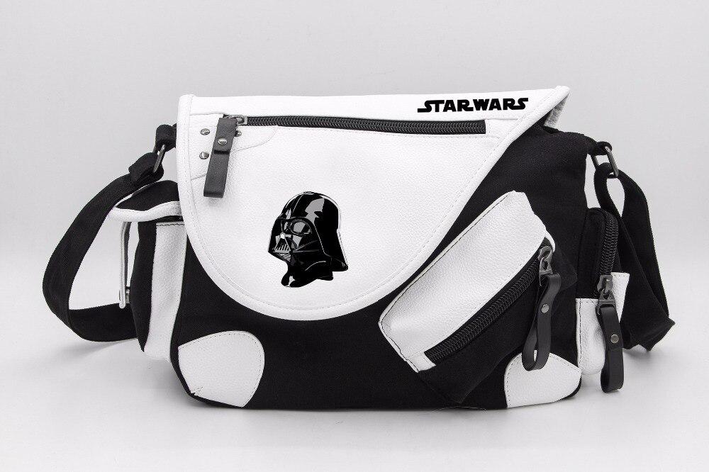 Star Wars Darth Vader Stormtrooper Canvas Casual Zipper Boys Girls Shoulder Bag Crossbody Bags Schoolbags Messenger Bag Gift<br>