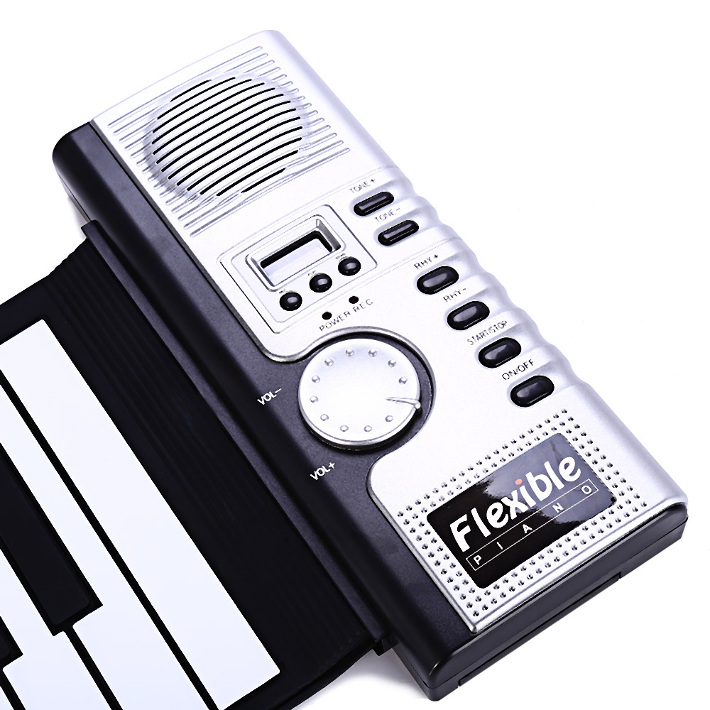 Portable 61 Keys Roll-up Keyboard Flexible 61 Keys Silicone MIDI Digital Soft Keyboard Piano Flexible Electronic Roll Up Piano (3)