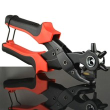 New Multifunctional Revolving Belt Leather Hole Puncher Hand Manual Pliers Belt Holes Punches Home Tool rotation LB036(China)