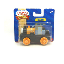 w103 free shipping Thomas and friends Wooden magnetic locomotive DASH kids Orbital toys boutique gift box(China)
