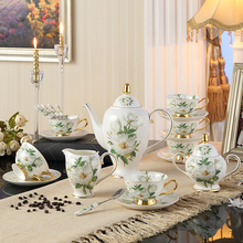 Camellia Bone China 15 pcs Tea Set Special tea set for oolong tea For Gifts(China)