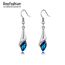 Buy 2014 Hot! Fashion jewelry Latest design earrings Austrian crystal earrings female wedding horse eye earrings 112 for $1.18 in AliExpress store