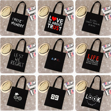 Great new spring and summer 2016 canvas bag cute cartoon pattern fashion shopping bags on behalf of a large inventory