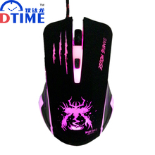 DTIME Optical 6 buttons 3200 DPI USB Wired Mouse Game Gamer Gaming Mice Mause For Computer PC Laptop Dota 2 LOL CS Lights(China)