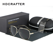 HDCRAFTER Brand New Polarized Sunglasses Men Driving Sunglasses UV400 Protect Sunglasses High Quality Eyewear Accessories(China)