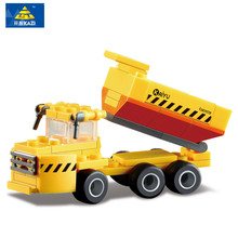 KAZI 59pcs ABS Construction Engineering Dump Trucks Building Blocks Children Enlighten Toys Birthday Gifts