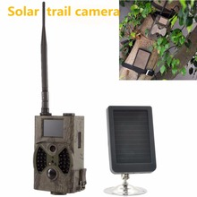 Night Vision Video Recorder 12MP HD Digital Infrared Scouting Trail Camera  HC 300M with solar panel power supply