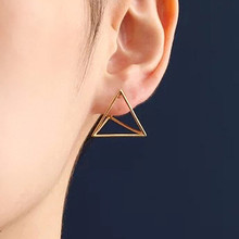 ES175 Women's Stud Earrings Spike Geometric Ear Jewelry Party Earring Punk Triangle Brincos Fashion Bijoux Pendientes Promotion