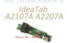 30pcs/lot  free ship NEW I/O Micro USB / Audio DC Charing Charge Board PCB for Lenovo IdeaTab a2107 A2107A A2207A