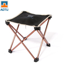Outdoor Foldable Folding Chair Fishing Picnic BBQ Garden Chair Tool Square Camping Stool Aluminium Alloy Foldable Chair