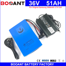 BOOANT Free Shipping 36V 51AH E-Bike Battery pack for Bafang 2000W Motor Electric Bicycle Battery 36V with 5A Charger 70A BMS(China)