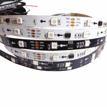 1M 12V WS2811 30pcs/m 5050SMD Digital RGB Dream Color Pixel LED Strip 10mm Black/White PCB 30led/m WS2811 Led Strip 10 IC IP30