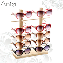 Wood Sunglasses Stand Jewelry Organizer Woods Jewelry Stand Glasses Holder Glasses rack Jewelry Display Wooden Rack A282(China)