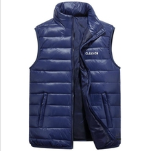 Free Delivery 2017 New Men's Casual Wear Code Feather Cotton Vest Fall Winter Slim Cotton Large Size Vest(China)