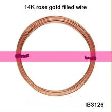 IB3126 Rose Gold filled wire,0.81mm wire,round, hard wire,jewelry wire,sold by pack