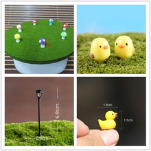 Any 5 Pcs Micro Landscape Mushroom Shote Fence Artificial Stone Small Chicken and Duck Miniature Fairy Garden Decoration