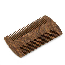 ZY 100% Men Natural Sandalwood Wood Mustache Comb Barber Shaving Brush Beard Hair Combs Men After Shave Beard(China)