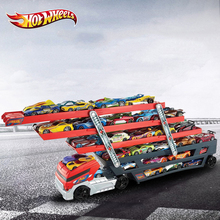 Original Hotwheels Heavy Truck CKC09 Toys Car Hold Truck Boys Hot wheels Truck Toys 6 Layer Scalable Parking Floor Truck Toys(China)