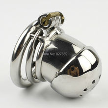 Buy NEW Small Male Chastity Cage Penis Lock Spiked Ring BDSM Sex Toys Stainless Steel Chastity Device Men Cock Cage