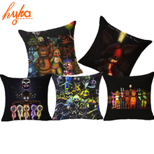 Hyha Five Nights at Freddy's Cushion Cover Classic Game Pillow Cover Ghost Freddy Toy Bear Doll Horror Game Decorative Pillows(China)