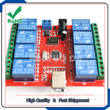 8-way/channel 12V USB control switch relay module PC intelligent controller board(China)