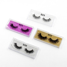 LEHUAMAO Mink Lashes 3D Mink False Eyelashes Long Lasting Lashes Natural Lightweight Mink Eyelashes Glitter Packaging New 1 Pair(China)