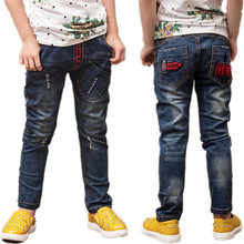 Casual Boys Jeans Trousers Infantil Autumn Jean Garcon Children Clothing Toddler Denim Cowboys Jersey Baby Boy Pants Clothes(China)