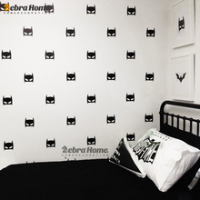 Hero Batman Mask Wall Decal Stickers DIY Baby Nursery Bedroom Home Decor Art Vinyl Mural Wallpaper For Kids Rooms