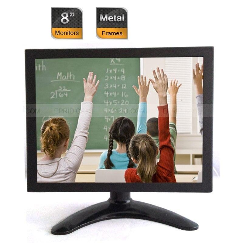 2PCS 8 Professional CCTV Security Color LCD Monitor BNC VGA AV Port Metal Frames<br><br>Aliexpress