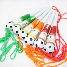 2Pcs Cute ball pen Blue refill lanyard soccer school office supplies gifts