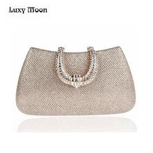 Buy Luxy Moon women crystal U Diamond clasp clutch bags glitter silver evening bags gold clutch party purse woman handbag 1820 for $18.69 in AliExpress store