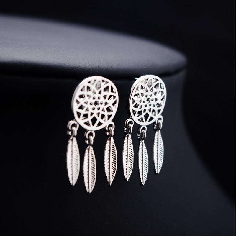 Boucles d'Oreilles Attrape Rêves - Mini Argent femme style chic et bohème