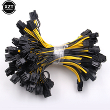 Hot sale 10pcs/Lot 6-pin PCI Express to 2 x PCIe 8 (6+2) pin Motherboard Graphics Video Card PCI-e GPU VGA Splitter Power Cable