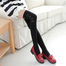Gagaopt 2017 Winter Soft Wool Stocking Over Knee High socks 4 Colors Solid Sexy Thick and Warm Stockings For Women Medias