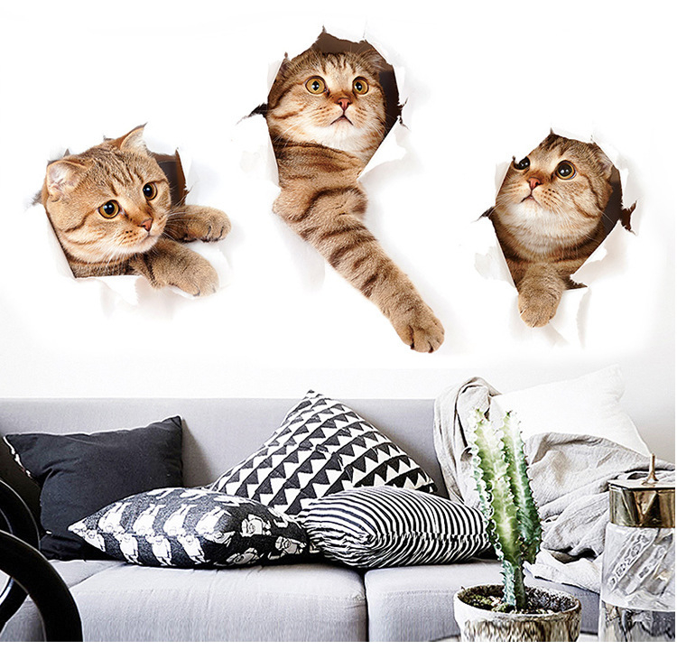 3D Lovely Cat Wall Stickers For Kids Room 3D Lovely Cat Wall Stickers For Kids Room HTB1iROjjdrJ8KJjSspaq6xuKpXaV