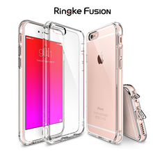 100% Original Ringke Fusion Case For iPhone 6s / 6 / 6s Plus / 6 Plus Crystal Clear Back Panel Case with Free Screen Protector