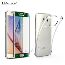 LRuiize Free Shipping TPU Mobile Case Cover+Green Full Curved 3D Tempered Glass For Samsung Galaxy S6 edge/S6 edge Plus(China)
