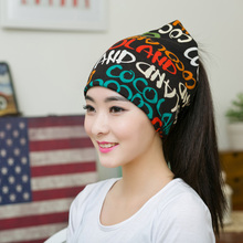 1PC New Women Spring&Autumn Causal Solid Color Big Letter Pattern Skullies&Beanies English Letter Female  Multifunction Hat