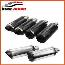 Motorcycle muffler pipe motogp cbr Akrapovic accessories twobrothers escape de moto ktm 36-51mm twobrothers two brothers exhaust(China)