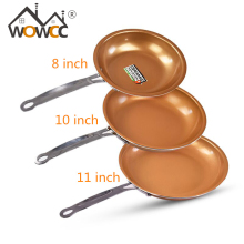 11&8 Inch Non-stick Copper Frying Pan with Ceramic Coating Gas cooking,Ceramic Nonstick Skillet,frigideira antiaderente panela